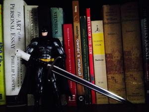 The only thing fiercer than Batman is Batman with a Longclaw Sword.  Actually, it's a letter opener but don't tell him that.