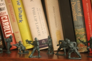 The green army men on a peacekeeping mission.