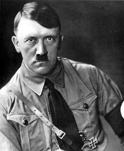 Adolf Hitler - historians agree that the last words he heard before Detective Hatcher's fist collided with his face were,