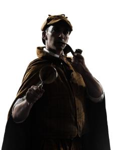 Sherlock Holmes, Sir Arthur Conan Doyle's infamous detective.