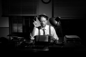 Detective Hatcher prefers old school typing.