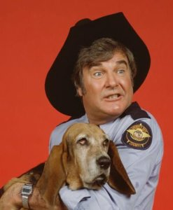 Sheriff Coltrane, seen here with his beloved pooch, Flash.