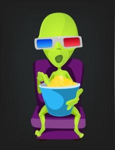 Alien Jones took in a movie as