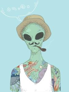 Hipster Alien