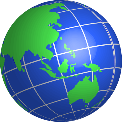 Oceania-Globe